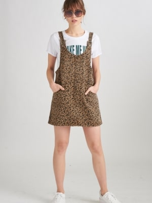 24 Colours Jeans Kleid leopard