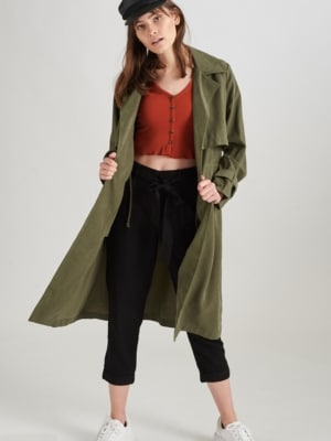 24 Colours Trenchcoat Olive grün