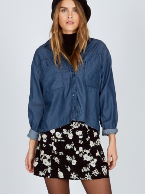 Amuse Society Indigo Dreams Blouse