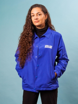 Girls are Awesome Coach Jacket Blue