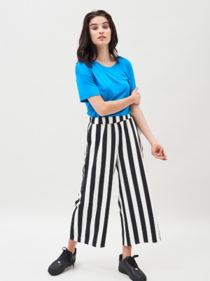 Dr.Denim Abel Culottes black and white striped