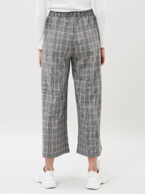 Dr.Denim Abel Culottes black and white checkered 2