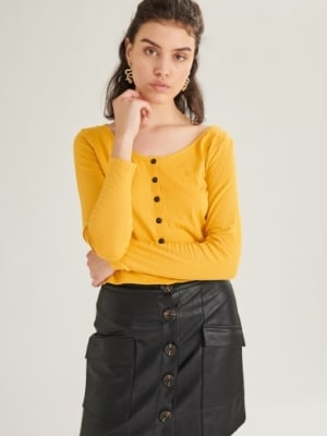 24 Colours longsleeve shirt yellow