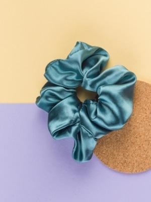 24 Colours Scrunchie turquoise blue satin 2