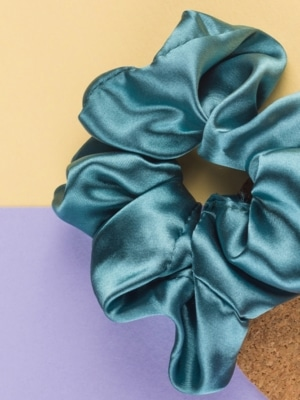 24 Colours Scrunchie turquoise blue satin