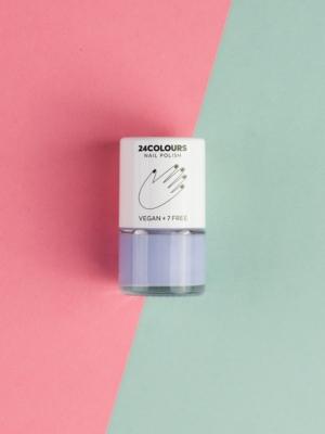 24 Colours Vegan nail polish BE PATIENT light blue