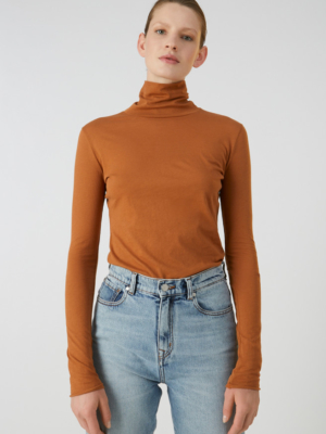 Armedangels turtleneck shirt Malenaa rust red