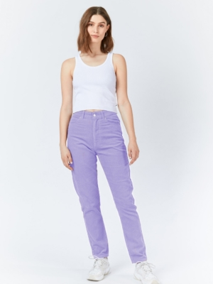 Dr.Denim Nora Mom Corduroy Pants Purple