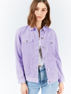 Dr.Denim corduroy jacket Larissa purple