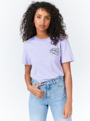 Dr.Denim T-Shirt Melrose purple