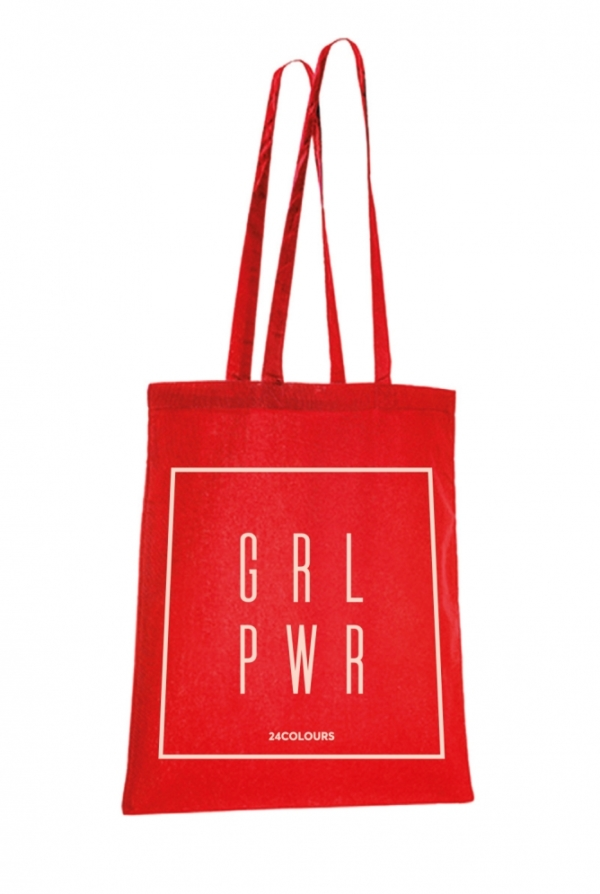 24 Colours Stofftasche Girl Power