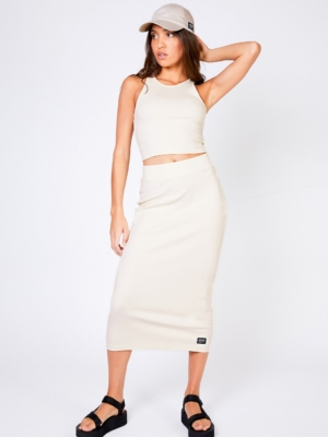 Dr.Denim Skirt Tabitha cream white