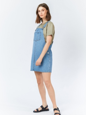 Dr.Denim Eir Dungaree Kleid hellblau