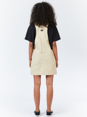 Dr.Denim Michigan Pinafore Latzkleid beige