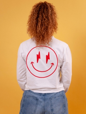 Girls are Awesome AK Smiley Longsleeve Weiss