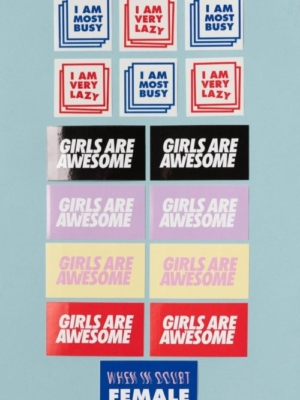 Girls are Awesome Sticker Pack Small
