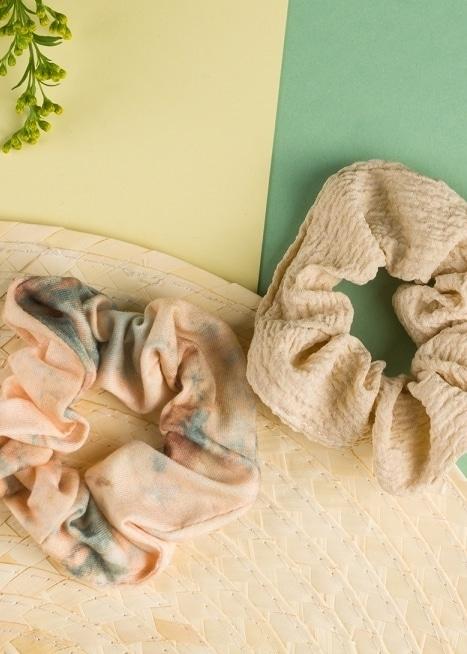 24 Colours Scrunchie Set beige