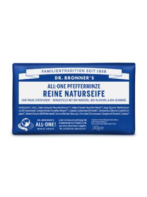 Dr-Bronners-Naturseife-Seifenstueck-Pfefferminze-140g