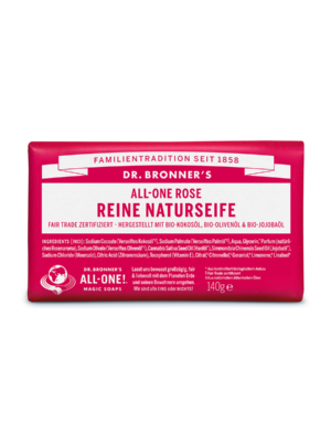Dr-Bronners-Natural Soap-Soap-Rose-140g