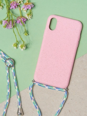 24 Colours Handykette Biologisch abbaubar pink iPhone XS/ X