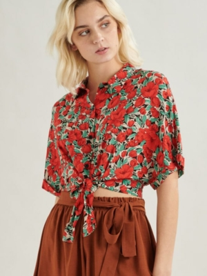 24 Colours Blouse with Roses