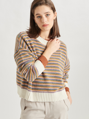 24-colours knitted sweater striped