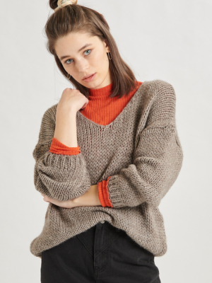 24 Colours knitted sweater grey