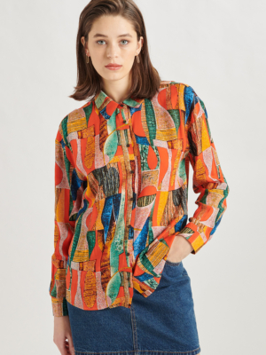 24 Colours Blouse Patterned