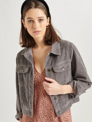 24 Colours corduroy jacket grey
