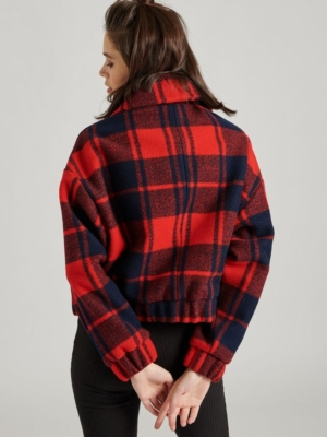 24 Colours Flannel Jacke rot