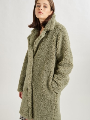 24 Colours teddy coat jade green