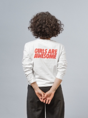 Girls are Awesome When in doubt Langarmshirt weiss