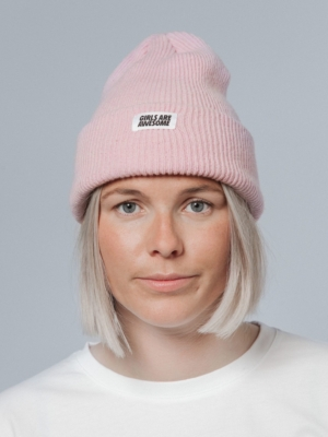 Girls are Awesome Merino Icon Beanie rosa