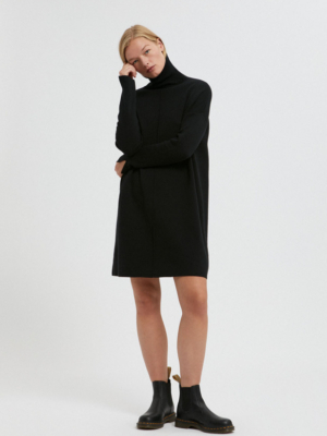 Armedangels knit dress Siennaa black