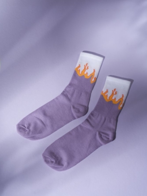 24 Colours socks purple