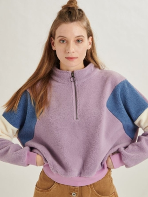 24 Colours Fleecepulli purple
