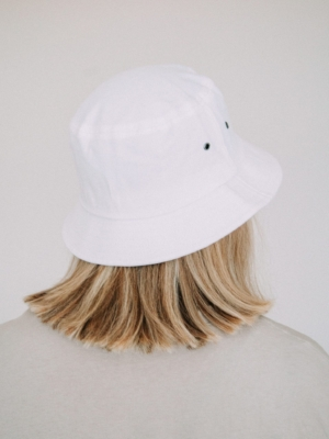 Girls are Awesome Bucket Hat AK Smiley white