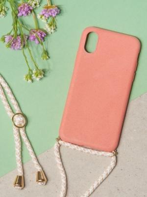 24 Colours Handykette Biologisch abbaubar rosa iPhone X/XS