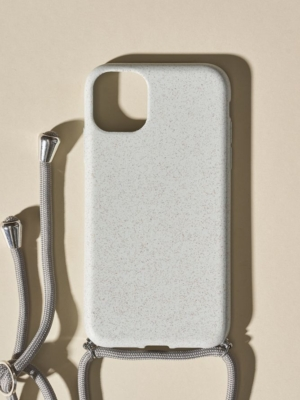 24 Colours Handykette Biologisch abbaubar grau iPhone 11