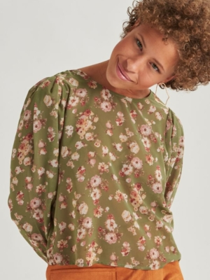 24 Colours Bluse mit Blumen mint