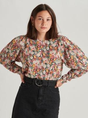 24 Colours Bluse mit Blumen retro