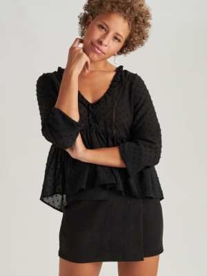 24 Colours blouse black