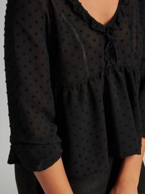 24 Colours blouse black