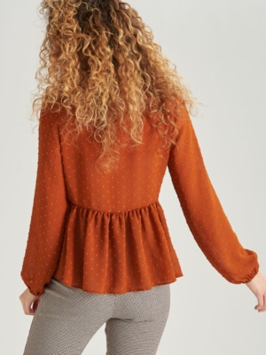 24 Colours blouse rust