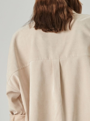 24 Colours Oversized Shirt beige