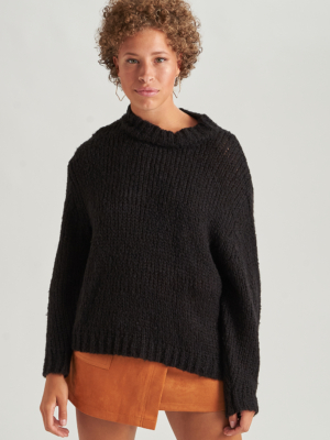 24 Colours knitted sweater black