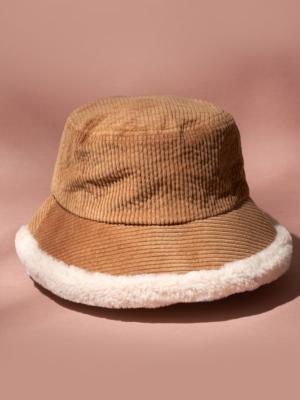 24 Colours Bucket Hat braun