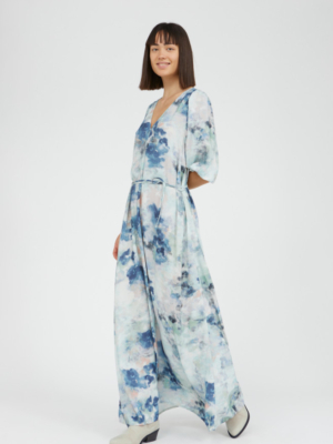 Armedangels maxi dress Tyraa watercolors