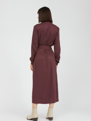 Armedangels Dress Beantaa aubergine