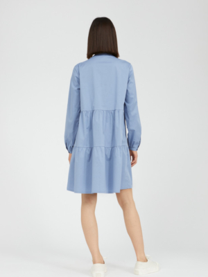 Armedangels dress Kobenhaavn foggy blue